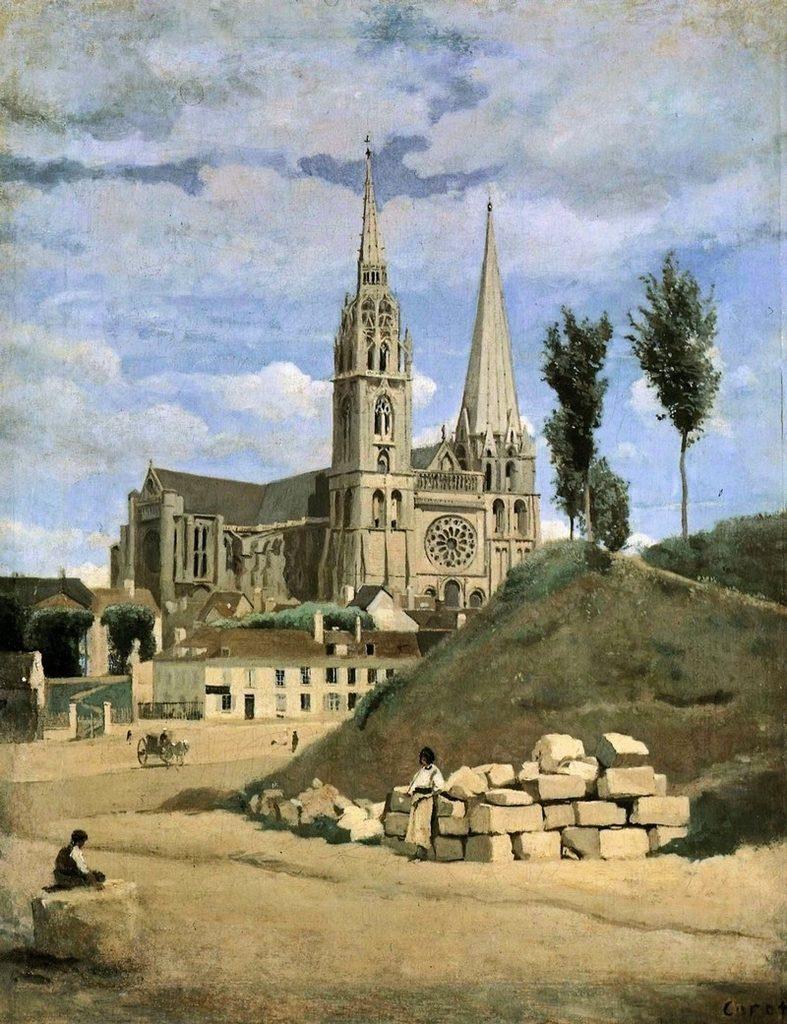Corot la cathédrale de Chartres