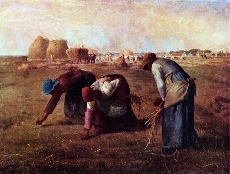 """Millet """"les glaneuses"""" 1857"""