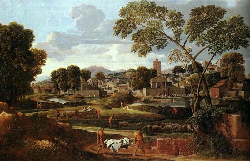 "Poussin ""Orféo et Euridice"" 1651"