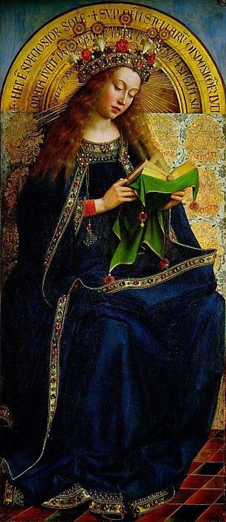 Marie mère de Dieu détail (agneau mystique) van Eyck